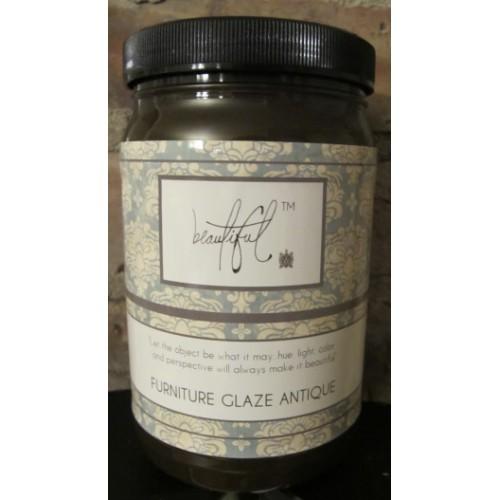 Beautiful Glaze Antiqued Quart