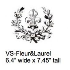 Fleur & Laurel Stencil