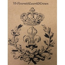 Fleur & Laurel with Crown Stencil