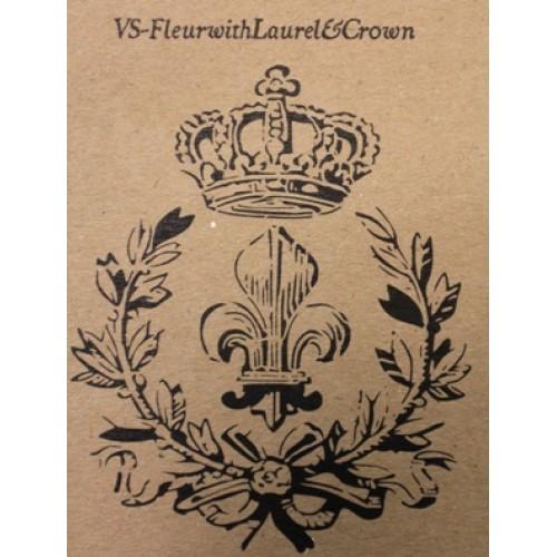 Fleur & Laurel with Crown Stencil