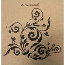 Floral Scroll Small Stencil
