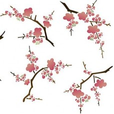 Cherry Blossoms Stencil