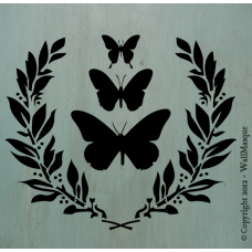 Butterflies & Laurel Stencil