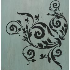 Floral Scroll Stencil