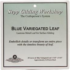 Blue Variegated Leaf Book